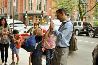 First day of School, Kingsley Montessori School, High Five, Parents as Partners