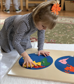 preschool map work